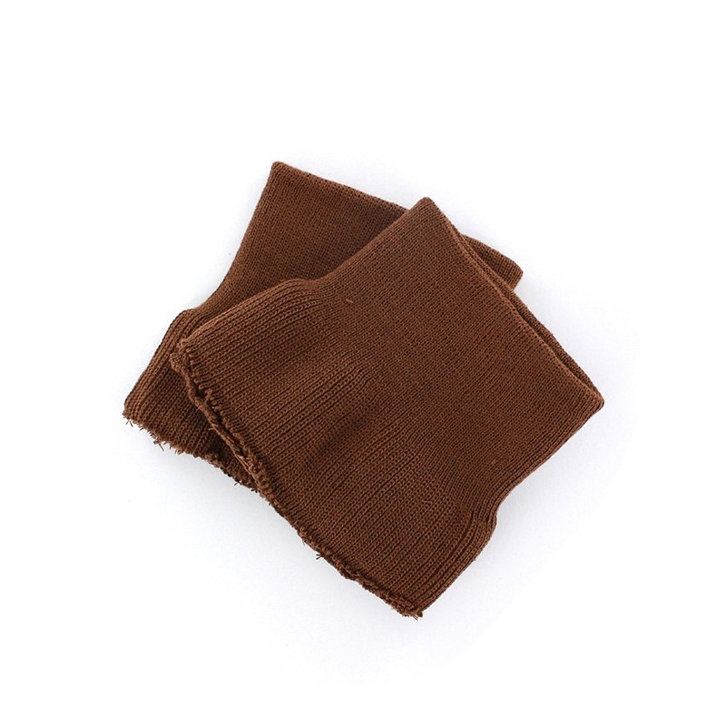 Poignets Bord Côte chocolat - Ma Petite Mercerie