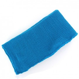 Bas de blouson bord côte turquoise