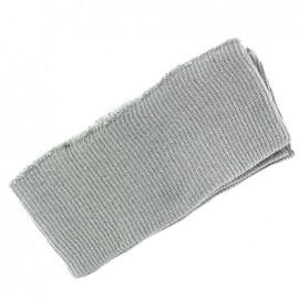 Bas de blouson bord côte gris clair