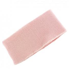 Bas de blouson bord côte rose