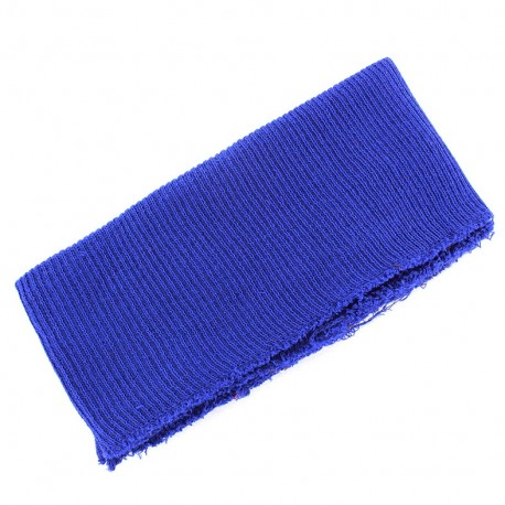 Bas de blouson bord côte bleu roy