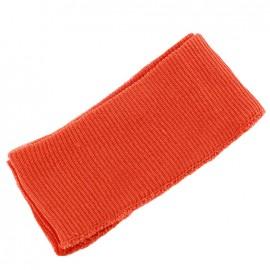 Bas de blouson bord côte orange