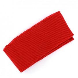 Bas de blouson bord côte rouge