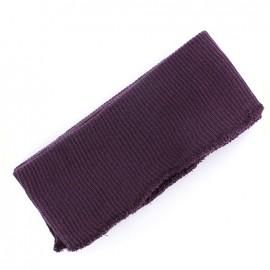 Bas de blouson bord côte violet