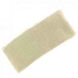 Bas de blouson bord côte beige clair