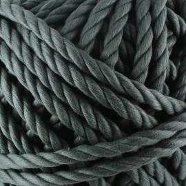 Cordon coton macramé gris foncé