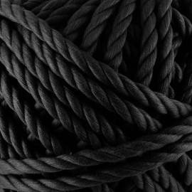 Cotton macramé cord - black