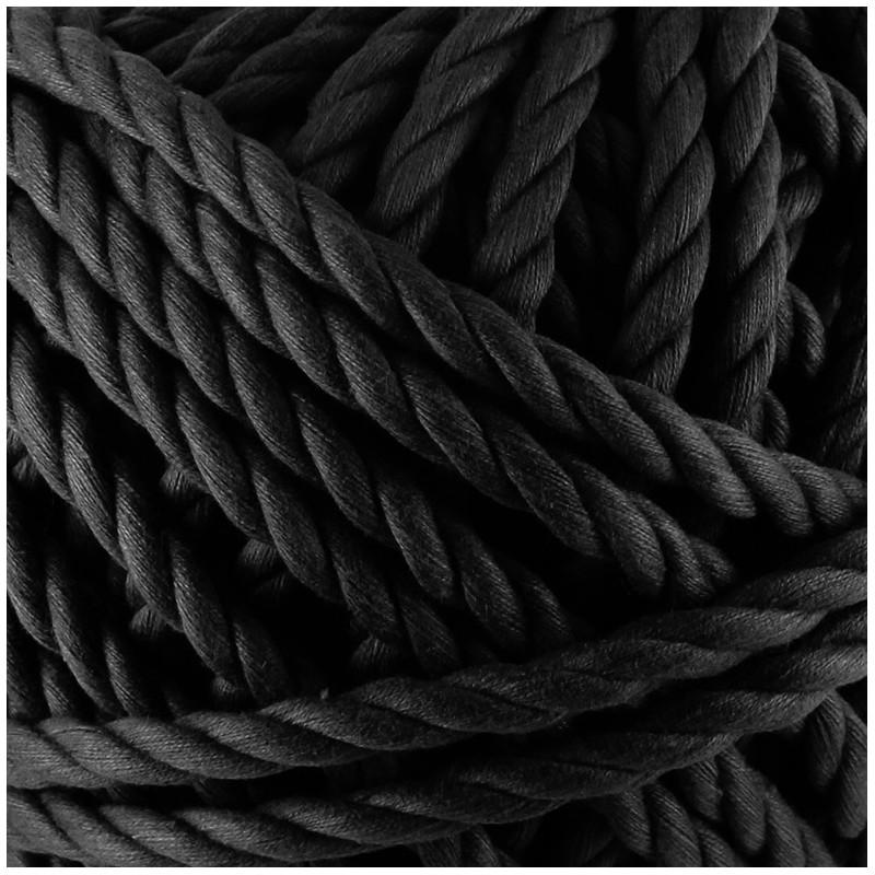 cordon coton macram noir. Black Bedroom Furniture Sets. Home Design Ideas