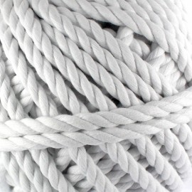 Cotton macramé cord - white