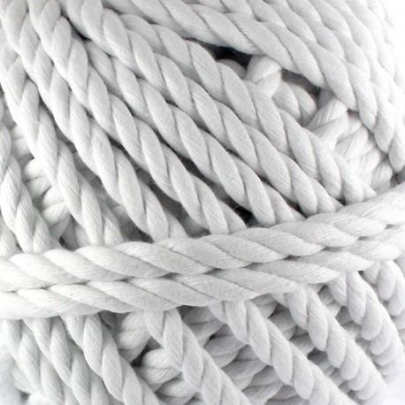 Cotton macramé cord - white