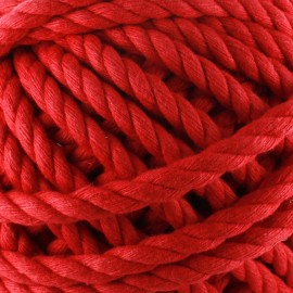 Cotton macramé cord - red