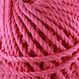 Cotton macramé cord - fuchsia