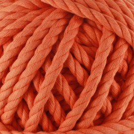 Cotton macramé cord - orange
