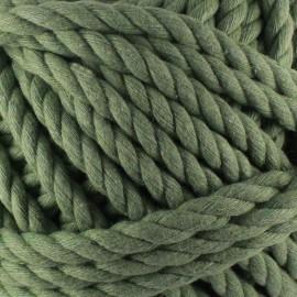 Cotton macramé cord - olive