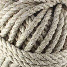 Cotton macramé cord - linen