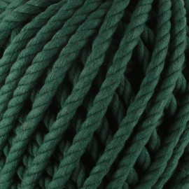 Cotton macramé cord - bottle green