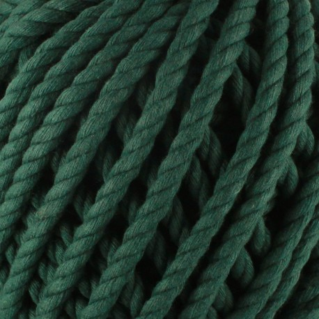 Cotton macramé cord - bottle green