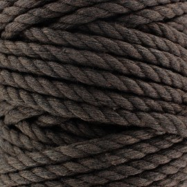 Cotton macramé cord - brown