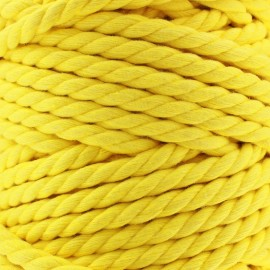 Cordon coton macramé jaune