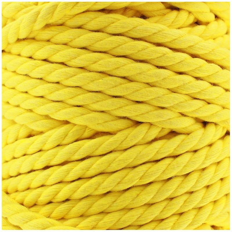 cordon coton macram jaune. Black Bedroom Furniture Sets. Home Design Ideas