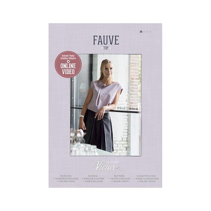 1363d36747d3 Patron Femme top Fauve - Maison Victor