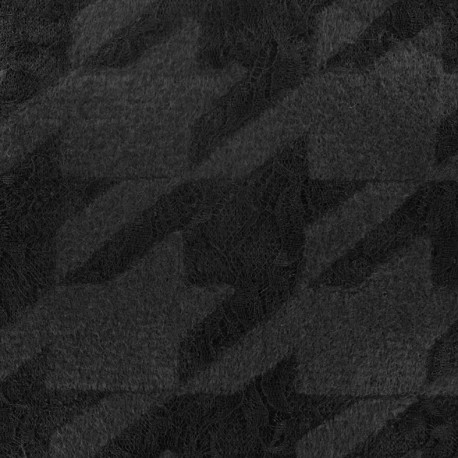 Houndstooth lace Wool knit fabric - black x 10cm