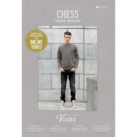 "Sewing Pattern ""Chess sweatshirt"" from La Maison Victor - multicolored"