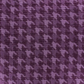 Jacquard fabric houndstooth - purple x 10cm