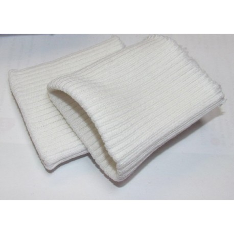 Wrist ribbing Courtelle - white