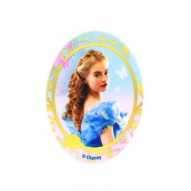 Canvas oval-shaped iron-on patch Cinderella E - multicolored