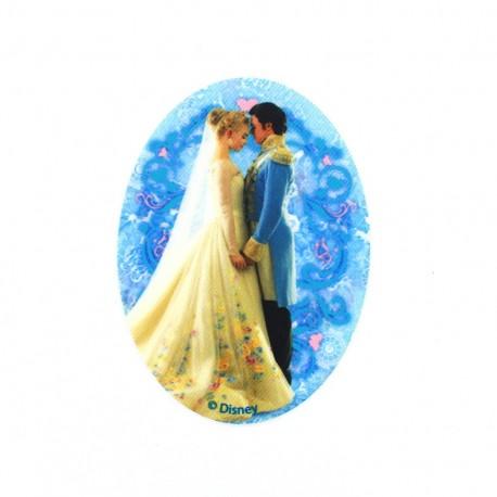 Thermocollant toile ovale Cendrillon H