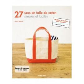 """Livre """"27 sacs en toile de coton simples et faciles"""""""
