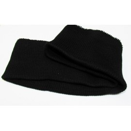 Jacket or sweatshirt ribbing - black