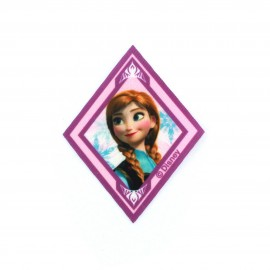 "Canvas Iron on diamond-shaped patch ""The Snow Queen"" Anna - purple"