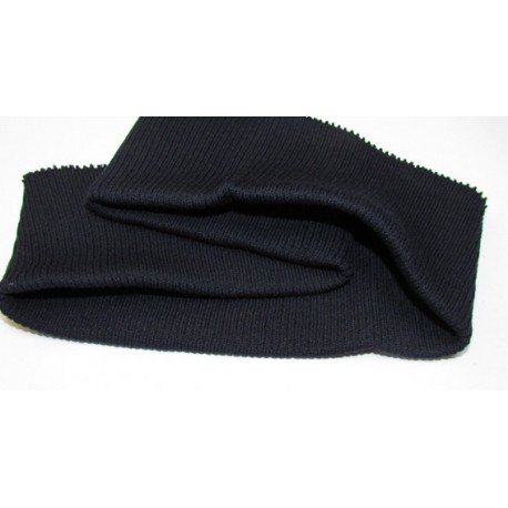 Jacket or sweatshirt ribbing - navy blue