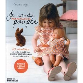 """Livre """"Je couds pour ma fille et sa poupée"""""""