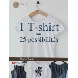 """Livre """"1 T-shirt - 25 possibilités"""""""
