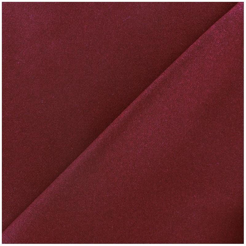Tissus pas cher tissu drap de laine grenat - Tissu pour drap ...