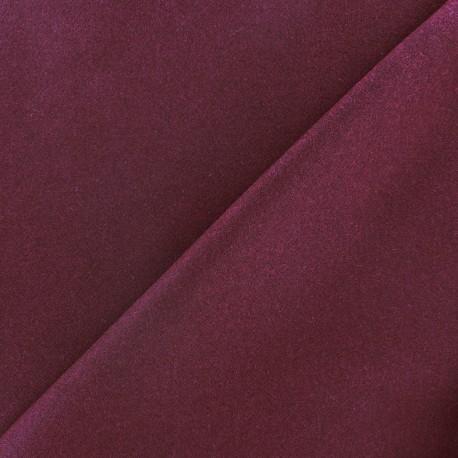 Tissu drap de laine lie de vin  x 10cm