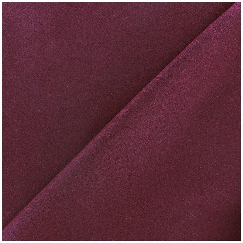 Tissu drap de laine lie de vin x 10cm ma petite mercerie - Tissu pour drap ...