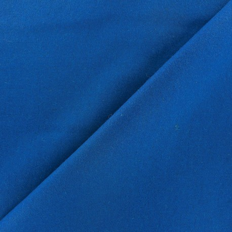 Wool broadcloth fabric - blue x 10cm