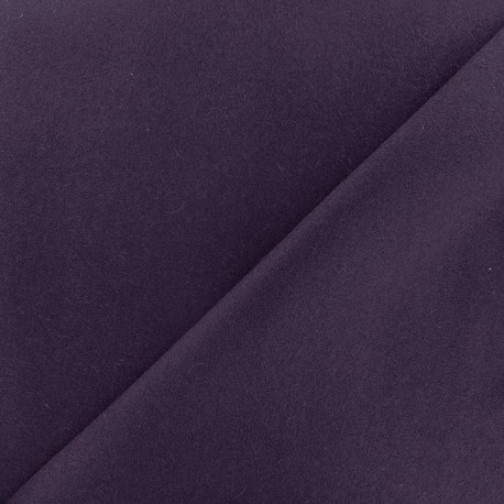 Wool broadcloth fabric - purple x 10cm
