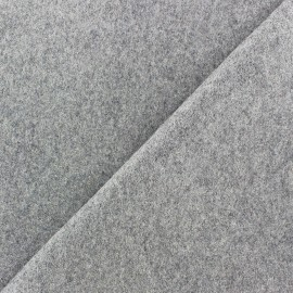 Wool broadcloth fabric - light grey x 10cm