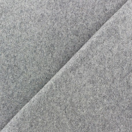 Wool broadcloth fabric - jight grey x 10cm
