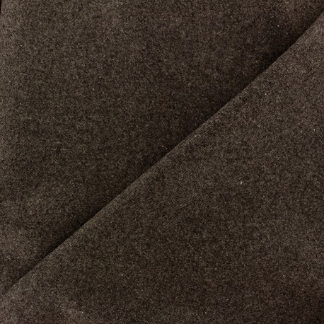 Wool broadcloth fabric - brown x 10cm