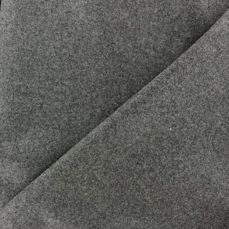 Wool broadcloth fabric - grey x 10cm