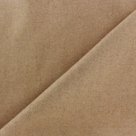 Tissu drap de laine JAMES camel x 10cm