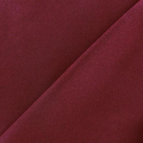 Tissu drap de laine JAMES bourgogne  x 10cm