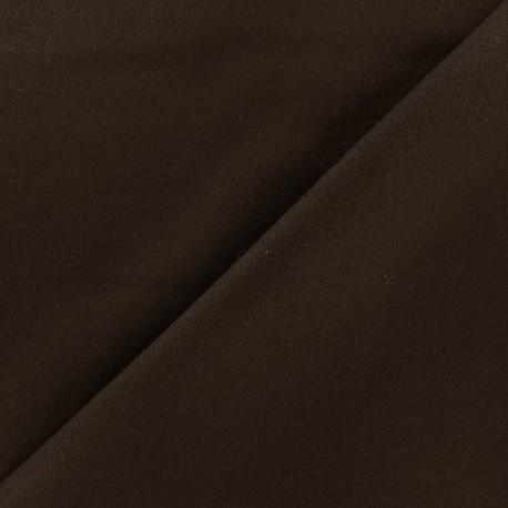 Tissu drap de laine JAMES marron x 10cm