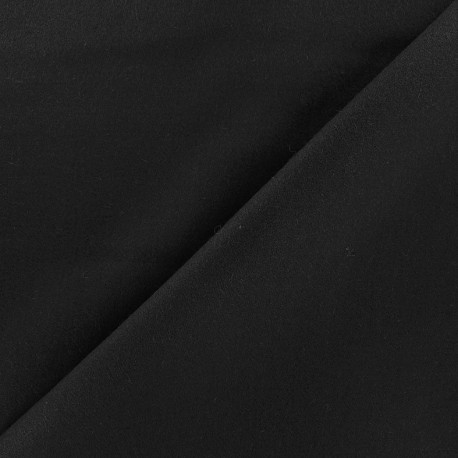 Wool broadcloth fabric - black x 10cm